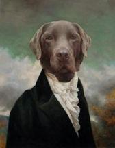 dog painted 3