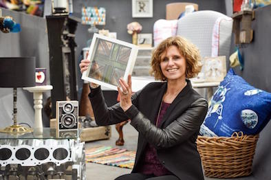 Remade in Britain Founder Donna Fenn shows off some of the retailers - press