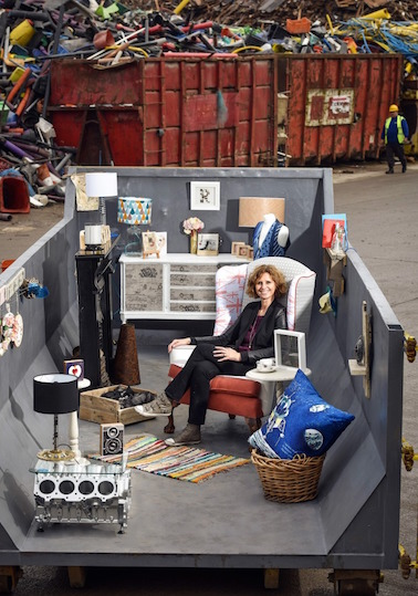 Room with a view - Remade in Britain transforms a skip - press
