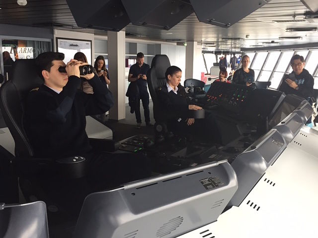 First Officer of world's largest cruise ship