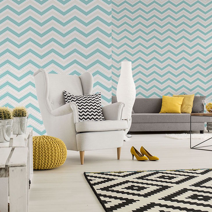 Teal Chevron, roomshot_opt-min