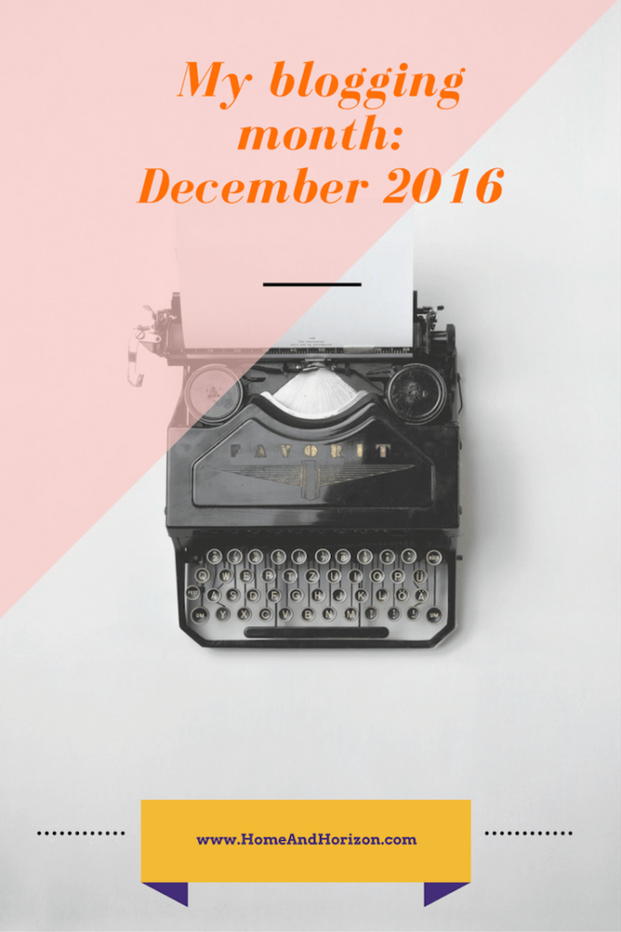 My blogging month: December 2016