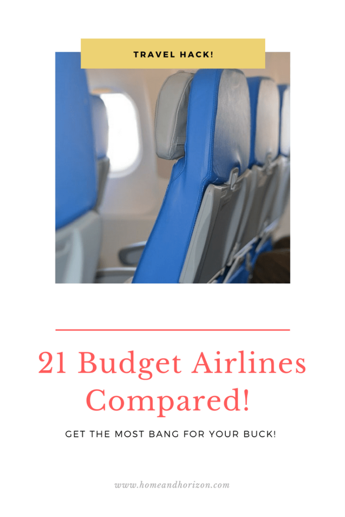 21 budget airline fares compared