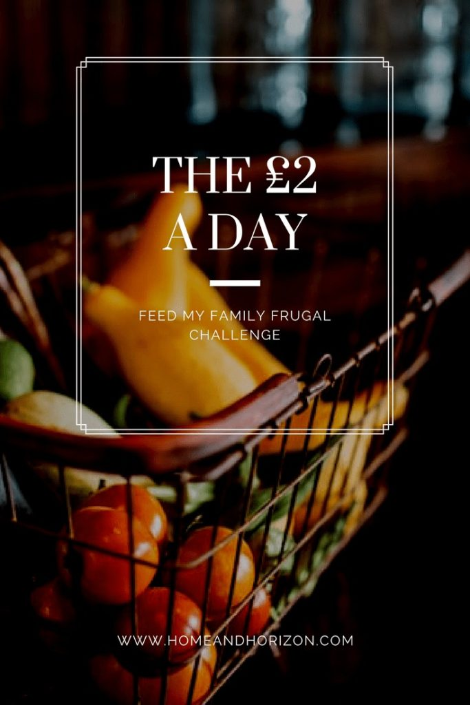 THE £2 A DAY FEED MY FAMILY FRUGAL CHALLENGE