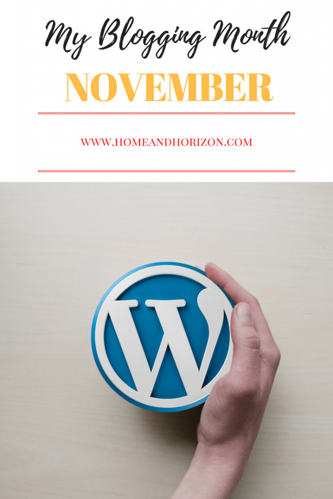 My blogging month November 7