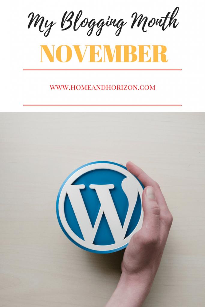 My blogging month November 7