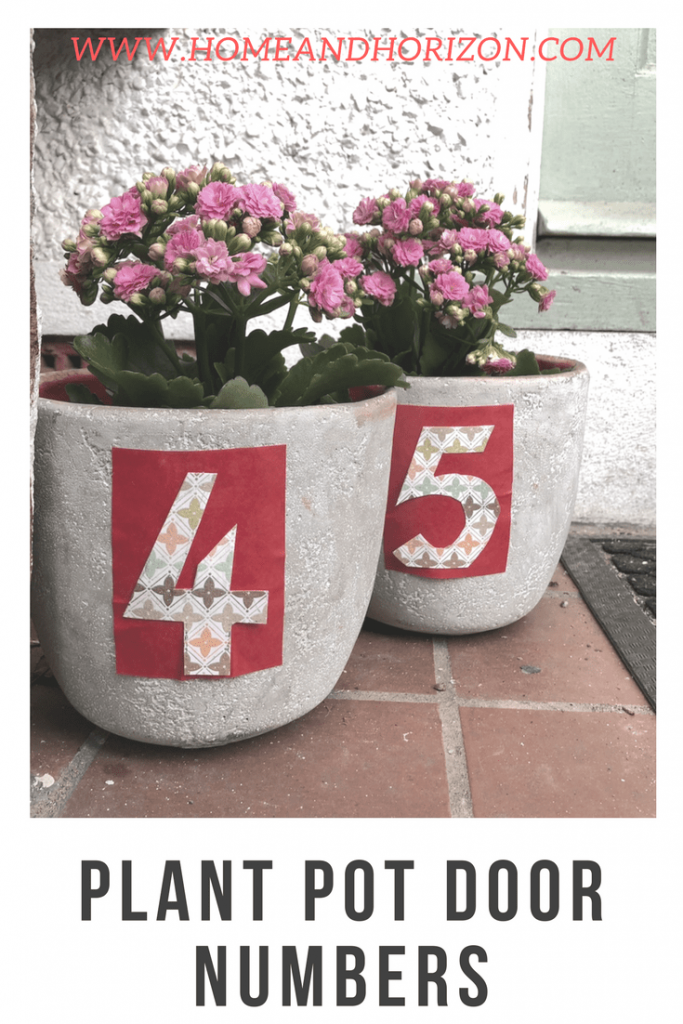 Make these delightful dual purpose planters - to display both your blooms and your door number!