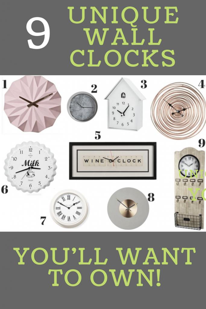 9 Unique Wall Clocks