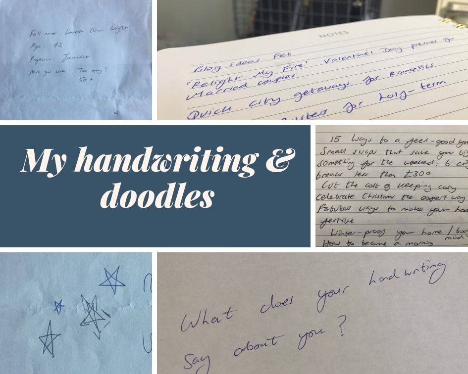 Handwriting analysis by an expert graphologist