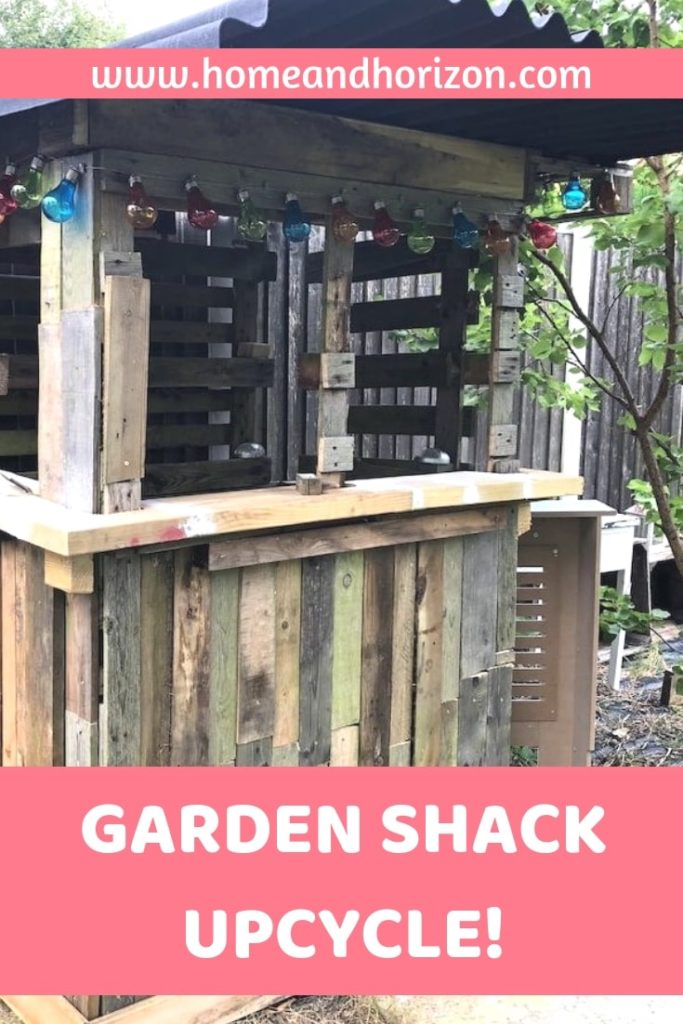 I was looking to do a garden upcycle project - turning the garden bike shed into a garden bar! Here's how I did it!