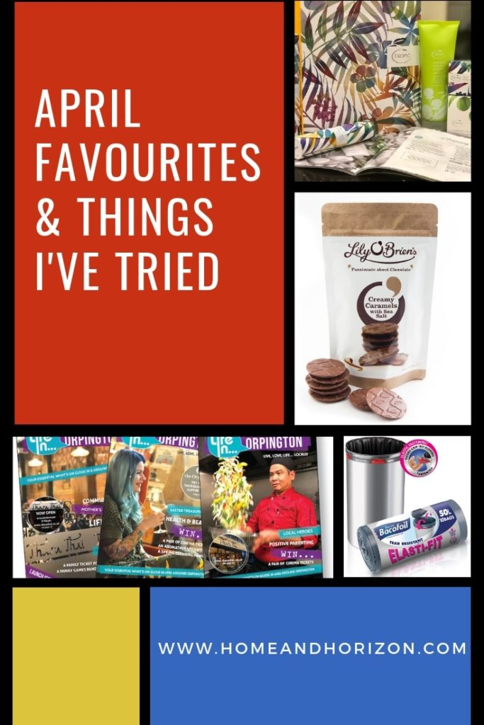 Here's a round up of my April #favourites and things I've tried, ranging from #cleanliving ideas to cool TV programmes