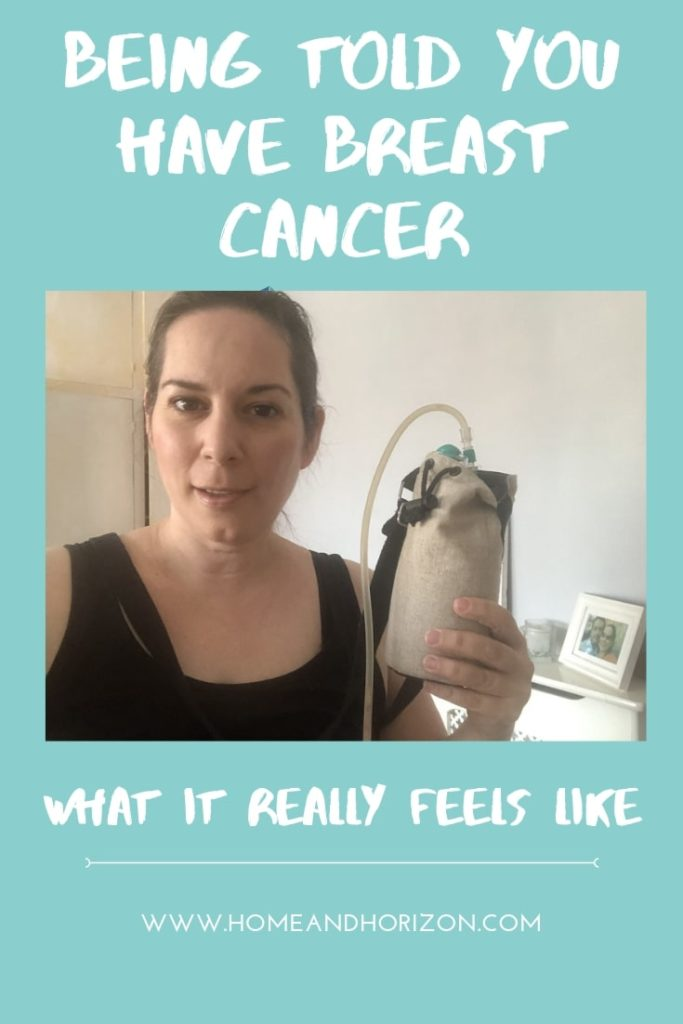 What does it really feel like being told you have breast cancer? Here's an honest account of my experience...