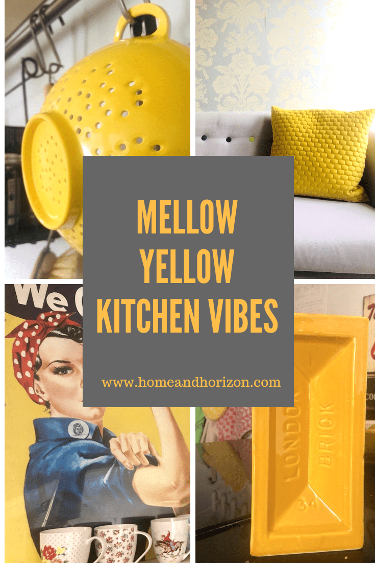 If you're looking to update your kitchen and tie together a theme, here's some great accessory items to create a mellow yellow kitchen vibe!