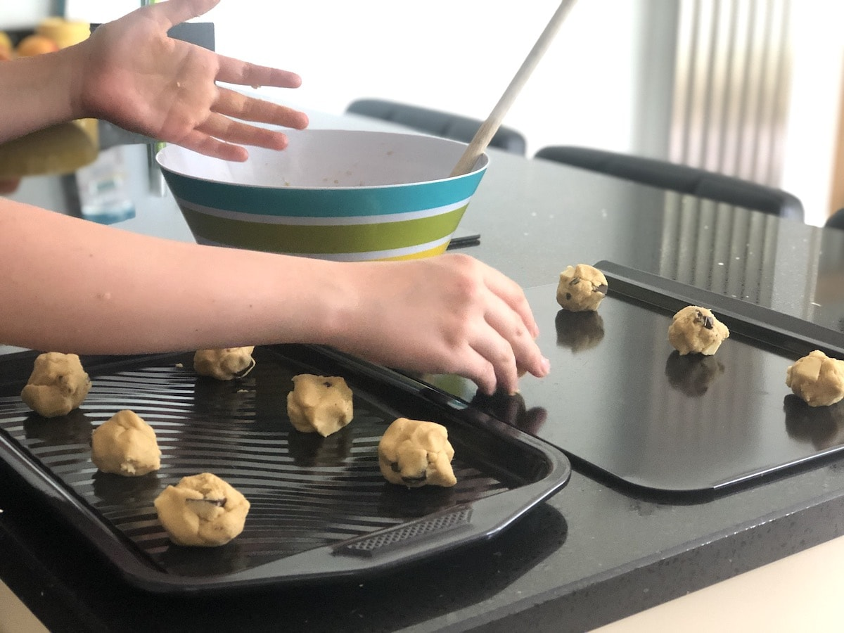 Roll the mixture into balls to make Molly's Cookies